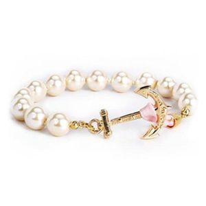 NWT kiel james patrick pearl anchor bracelet